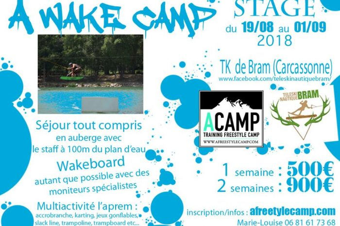 """""""A.Freestyle CAMP"""" passe en mode wakeboard !!"""