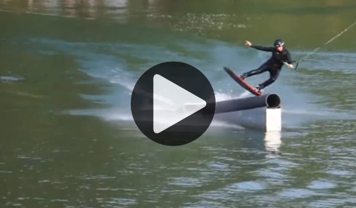 Girls Shred !!!! Soline Bourdon sur le fameux spot du sud bordelais, Wake Lagoona !